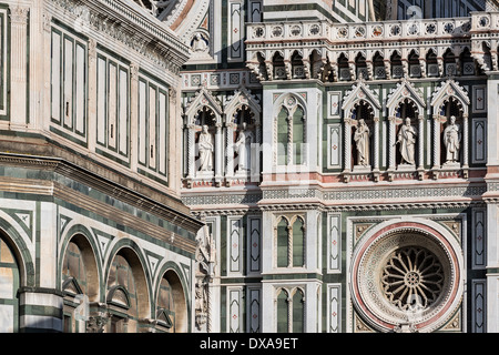Santa Maria del Fiore Cathedral detail, Florence, Italy - Stock Photo