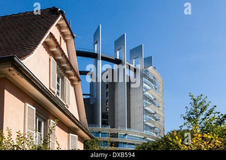 European Parliament building, Strasbourg, France, Europe. - Stock Photo
