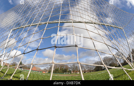 Back of a football goal net - Stock Photo