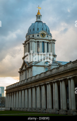One of the towers of the Old Royal Naval College in Greenwich - Stock Photo