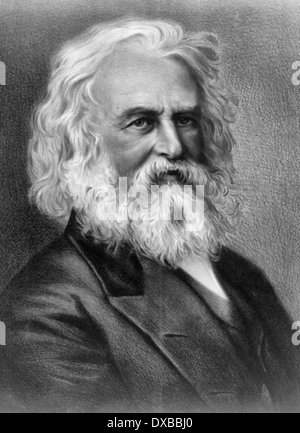 Henry Wadsworth Longfellow, American poet and educator, circa 1880 - Stock Photo