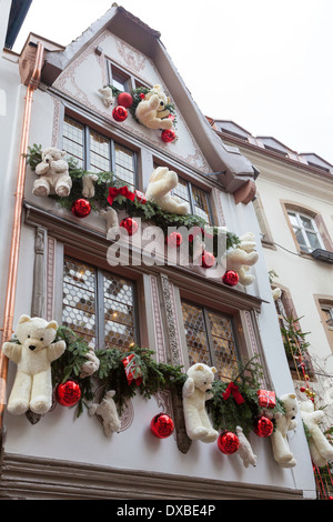 christmas decorations on the exterior of au printemps department stock photo royalty free image. Black Bedroom Furniture Sets. Home Design Ideas