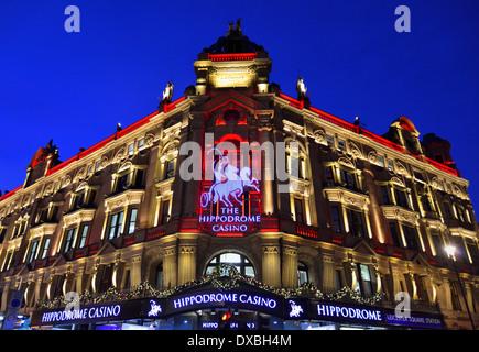 Hippodrome Casino, Cranbourn Street, Leicester Square, London WC2H, United Kingdom - Stock Photo