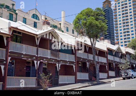 social public housing in Millers point,sydney,which the NSW government is looking to sell - Stock Photo