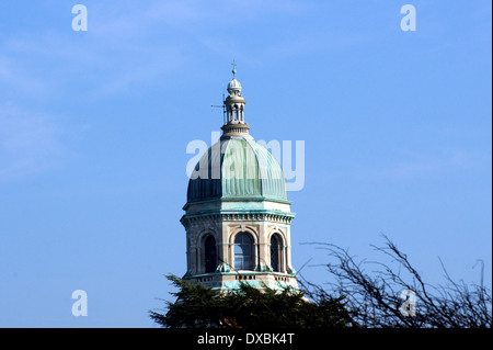 THE CHAPEL BELL TOWER  ROYAL QUEEN VICTORIA COUNTRY PARK, NETLEY,  SOUTHAMPTON, UK. - Stock Photo