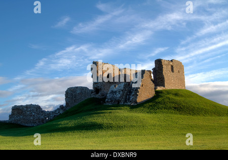 The remains of Dufus Castle, Scotland.  One of the finest examples of a motte and bailey castle in Scotland. - Stock Photo