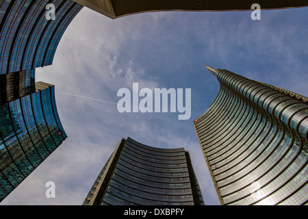 Porta Nuova business district, Milan, Lombardy, Italy - Stock Photo