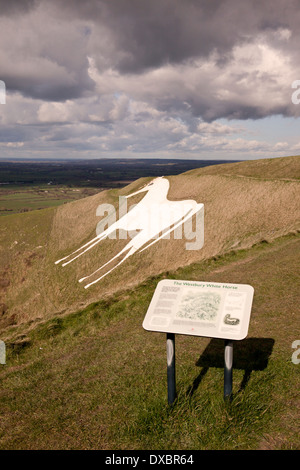 Westbury White Horse, Westbury, Wiltshire, England - Stock Photo