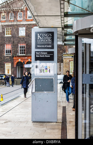New Hunt's House Library entrance on Guy's Campus KCL King's College London, UK - Stock Photo