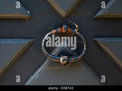 Door knocker detail in Pont l'Eveque, Normandy, France 2012 - Stock Photo