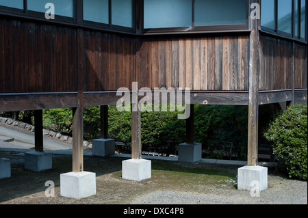 Elevated temple building in Odawara, Kanagawa Prefecture, Japan - Stock Photo