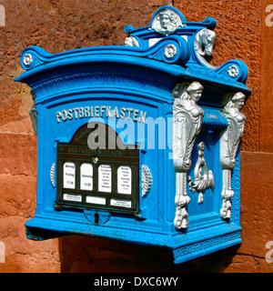 Historical mailbox, Budingen - Stock Photo