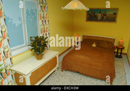 apartment in 50s style  bedroom   Stock Photo. Apartment In 50s Style Bedroom Stock Photo  Royalty Free Image