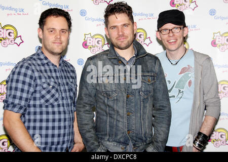 Scouting For Girls Girlguiding UK Big Gig 2012, held at the Motorpoint Arena - Backstage Sheffield, England - 06.10.12 - Stock Photo