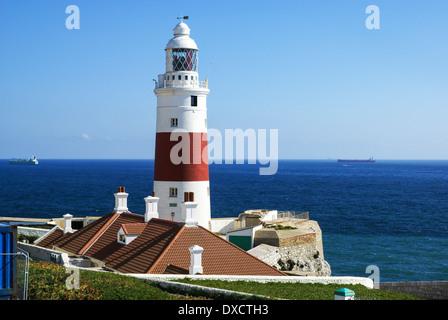Lighthouse at Europa Point, Gibraltar - Stock Photo