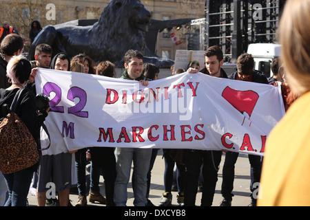 22 M Spanish Dignity Marches in London Las marchas de la Dignidad en Londres, 22M en Londres - Stock Photo