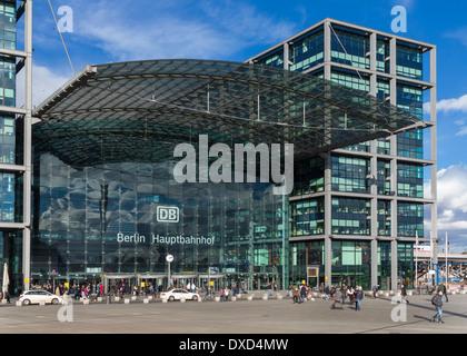 Hauptbahnhof Berlin railway station, Germany, Europe - the main central railroad station in Berlin - Stock Photo