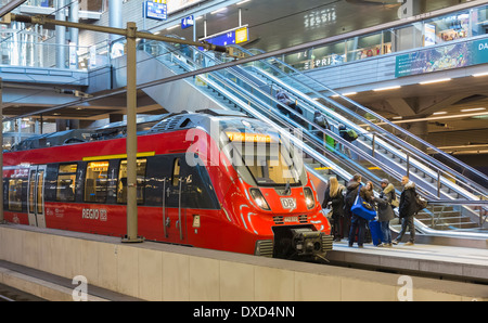 In the Hauptbahnhof central train station, Berlin, railway stations, Germany, Europe - Stock Photo