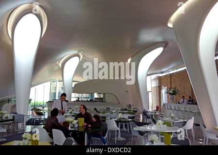 Serpentine Sackler Gallery - The Magazine cafeteria by architect Zaha Hadid, London - Stock Photo