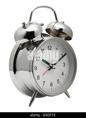 Classic silver chrome Clock with Alarm bells on top to get you out of bed