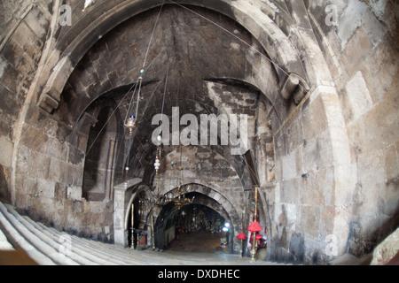 Church of the Sepulchre of Saint Mary, Jerusalem, Israel. - Stock Photo