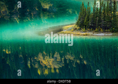 Emerald Lake, nr Carcross, Yukon Territories, Canada - Stock Photo