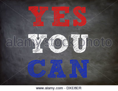 Yes you can - Motivation concept - Stock Photo