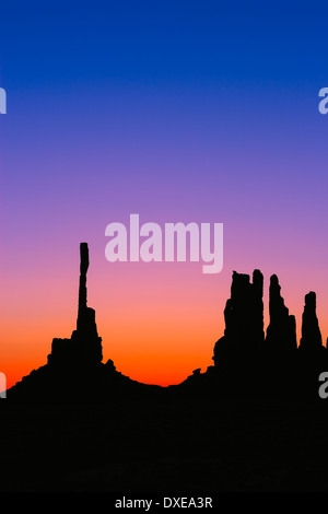 Sunrise Monument Valley at the border of Arizona and Utah, USA - Stock Photo