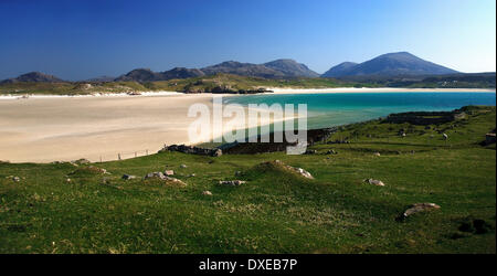 view across uig sands from crowlista near Timsgarry,island of lewis outer hebrides - Stock Photo