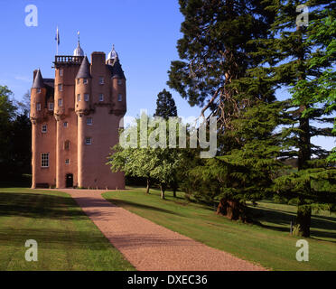 Craigievar Castle, Aberdeenshire. - Stock Photo