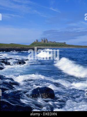 Dunstanburgh castle, Northumbria, N/E England - Stock Photo