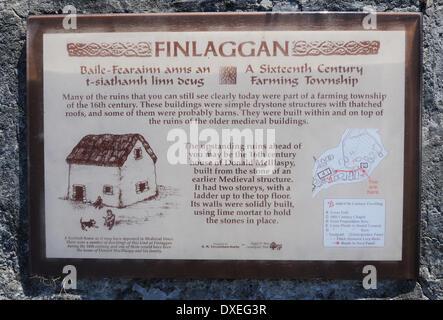 Information sign at Finlaggan, Islay - Stock Photo