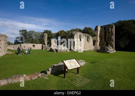 The ruins of Spynie palace,spynie,morayshire. - Stock Photo