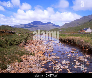 Summer in Ben More from Glen More, Isle of Mull, Argyll - Stock Photo