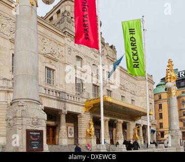 Stockholm, Sweden - Kungliga Dramatiska Teatern (Royal Dramatic Theatre), Nybroplan - Stock Photo