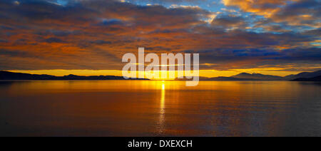 Sunset over Mull, Argyll - Stock Photo