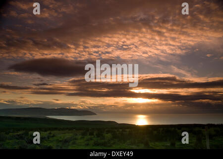 Sunset over the Mull of Kintyre, Argyll - Stock Photo