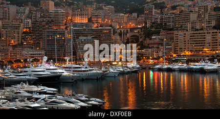Principality of Monaco, a sovereign city state, located on the French Riviera - Stock Photo