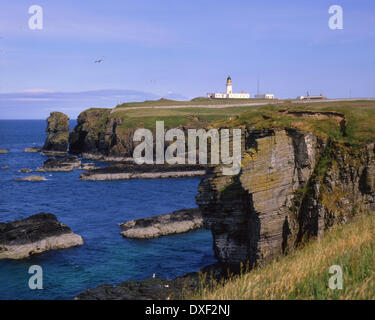 Noss head lighthouse near Wick, Caitness, N/E Scotland - Stock Photo