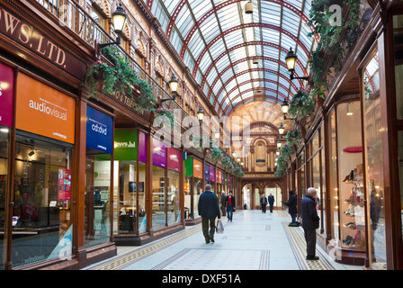 Shops in Central Arcade off Grainger Street city centre Grainger Town Newcastle upon Tyne Tyne and Wear UK GB EU - Stock Photo