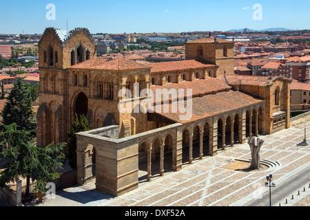 Monasterio de Nuestra Senora de Gracia in the city of Avila in the Castile and Leon region of Spain. - Stock Photo