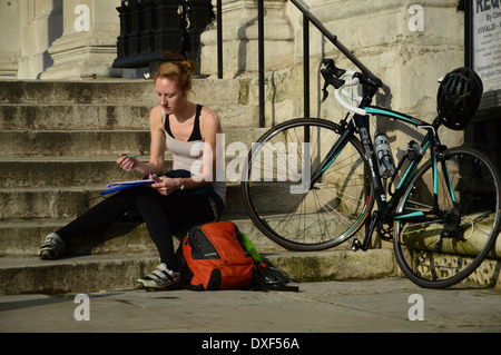 Artist sketching - Stock Photo