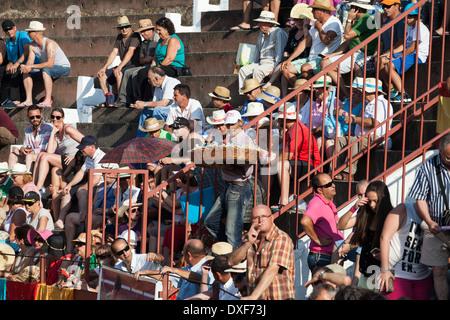 Traditional Spanish bullfighting on July 19, 2013 in La Linea de la Concepcion, Spain. - Stock Photo