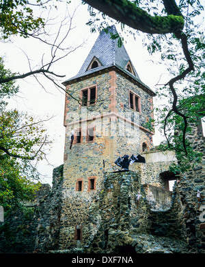 burg frankenstein castle 13th century with halloween. Black Bedroom Furniture Sets. Home Design Ideas