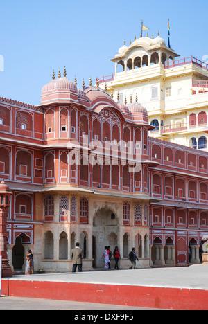 Chandra Mahal at Jaipur City Palace - Stock Photo