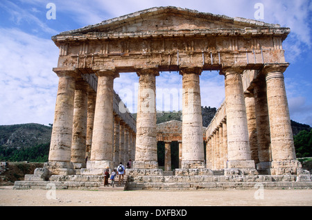 Greek style Temple of Segesta, Sicily, Italy - Stock Photo