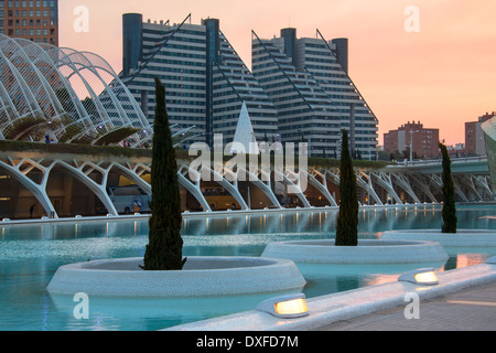 City of Arts & Sciences in the the city of Valencia in the Pais Valenciano region of eastern Spain. - Stock Photo