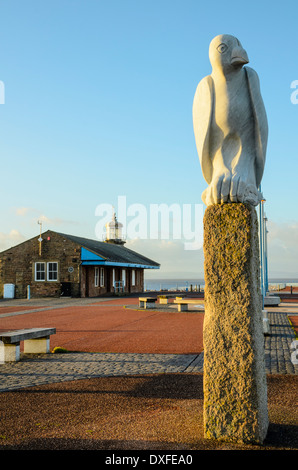 The Stone Jetty Morecambe Lancashire is the centrepiece of the award-winning Tern public art Project - Stock Photo