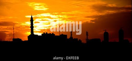 Amman at sunset - Stock Photo