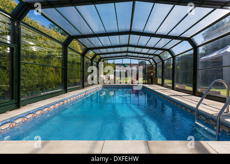 Large indoor swimming pool in country barn conversion with for Garden city pool jobs